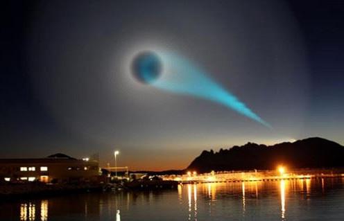 Vòng tròn bí ẩn màu xanh xuất hiện trên bầu trời phía bắc Na Uy