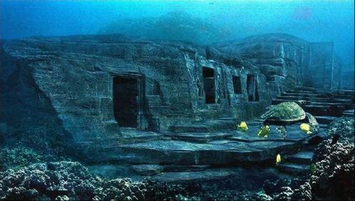 Một số nhà khoa học tin rằng chúng thực ra là phế tích của Atlantis.