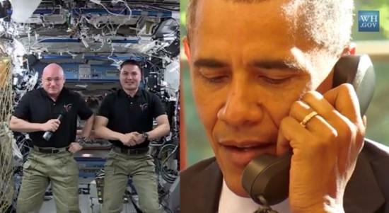 Tổng thống Obama gọi điện lên Trạm Vũ trụ Quốc tế