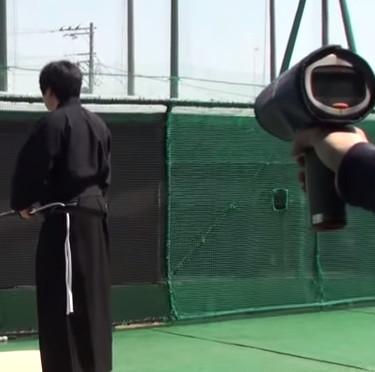 Video: Võ sĩ Nhật chém đứt đôi quả bóng đang bay với vận tốc 161km/h