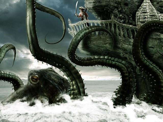 Kraken có một lớp da khá dày cộng với những quả cầu tròn nằm dọc trên những xúc tu của nó.