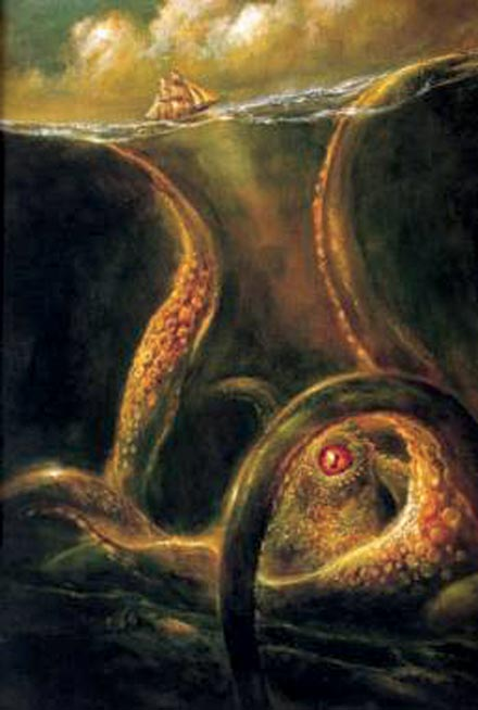 Thủy quái Kraken.