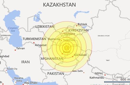 Động đất 7,5 độ Richter rung chuyển Nam Á