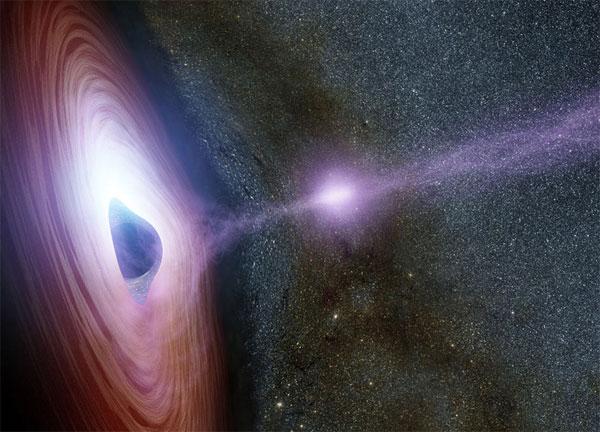 Lý giải về quầng hào quang rực sáng trên hố đen