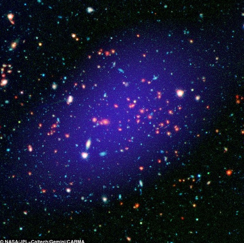 Phát hiện cụm thiên hà khổng lồ cách Trái đất 8,5 tỷ năm ánh sáng