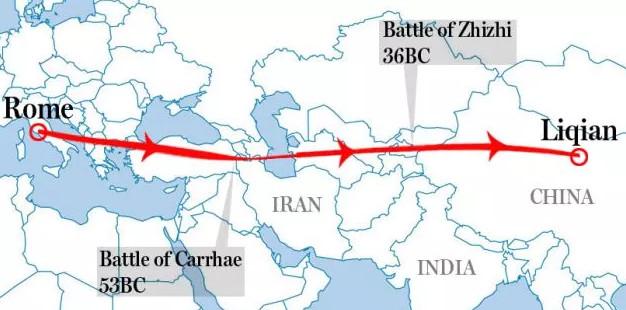 Bằng chứng cho thấy lính La Mã đã chinh chiến đến Trung Quốc?