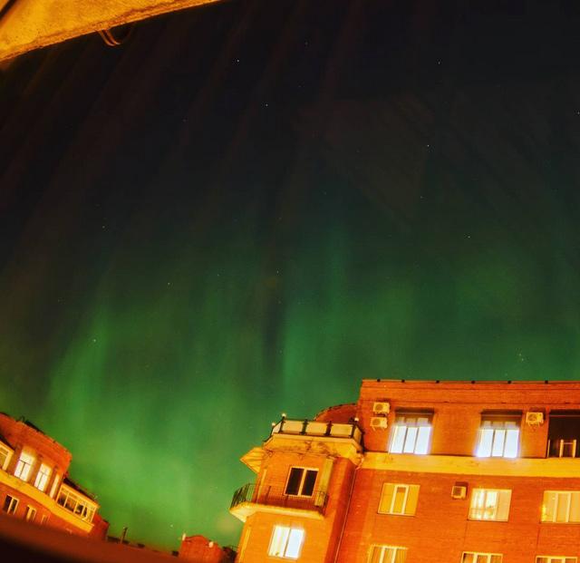 Hiện tượng cực quang kỳ ảo ở Nga