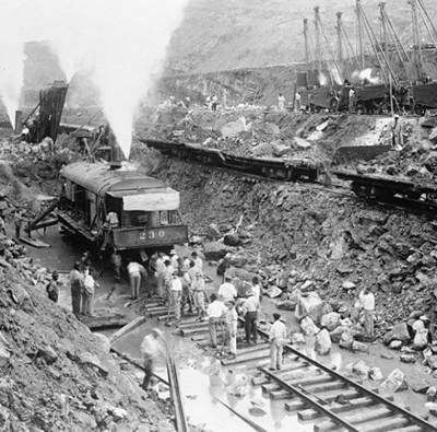 Bộ ảnh đáng kinh ngạc về việc xây dựng kênh đào Panama
