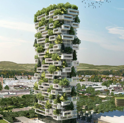 """Thụy Sĩ lên kế hoạch xây """"khu rừng thẳng đứng"""" cao 117m"""