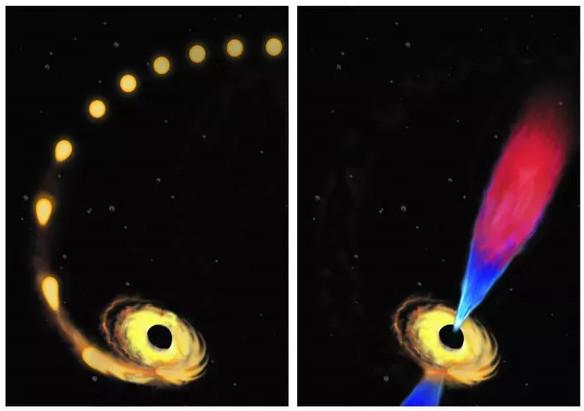 """Chộp được hình ảnh hố đen vũ trụ """"nghẹn"""" khi nuốt một ngôi sao"""