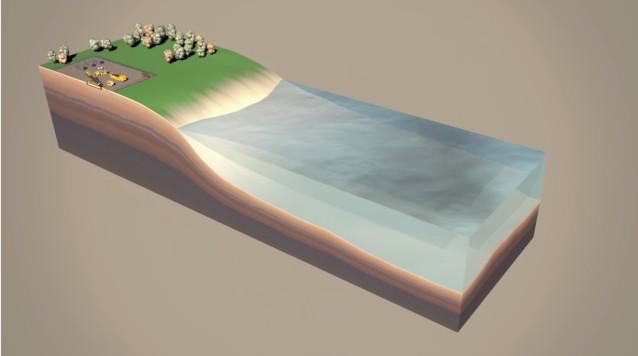 Trữ điện trong bóng khí sâu 55 mét dưới nước