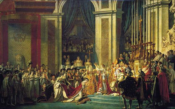 Khung cảnh lễ đăng quang của Napoleon.