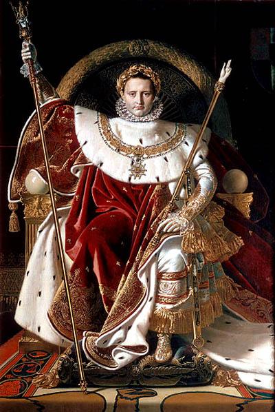 Napoleon trên ngai vàng, Họa phẩm của Jean Auguste Dominique Ingres.