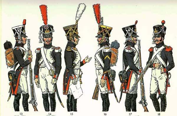 Napoleon cùng Quân đoàn Lê dương, đội quân do tự tay Napoleon thành lập và chỉ huy.