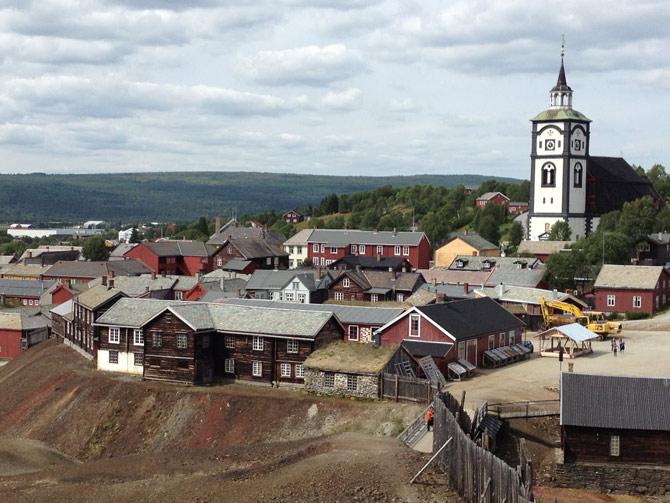 Khu khai thác mỏ tại thị trấn Roros - Nauy