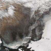 Ảnh vệ tinh hé lộ thảm họa ô nhiễm không khí Trung Quốc