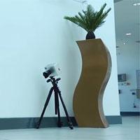 Chiếc máy ảnh có thể nhìn cong qua góc tường