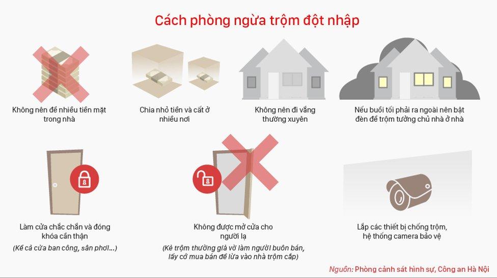Nếu buổi tối phải ra ngoài, nên bật điện trong nhà để kẻ trộm tưởng chủ nhà ở nhà.