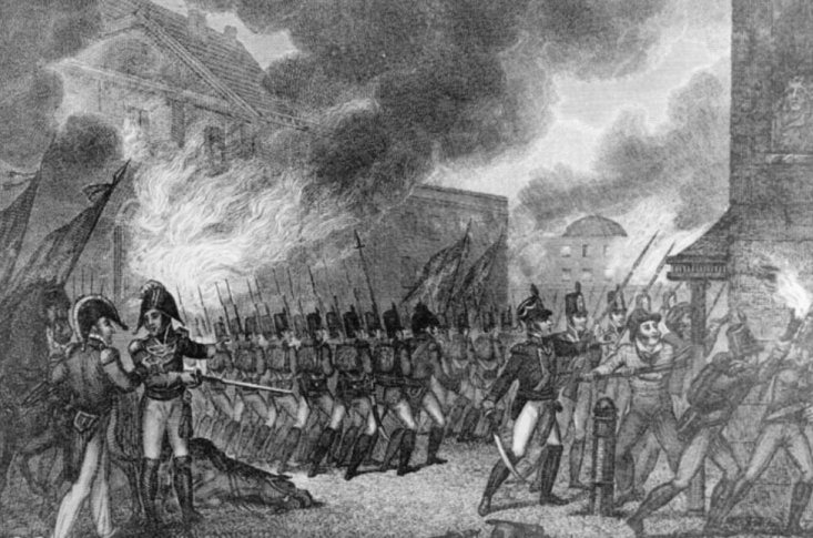 Trận bão khiến quân Anh bỏ dở cuộc chinh phạt ở Washington D.C, Mỹ.