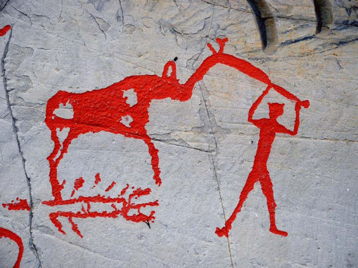 Phần lớn các hình khắc ở đây có chủ đề về động vật