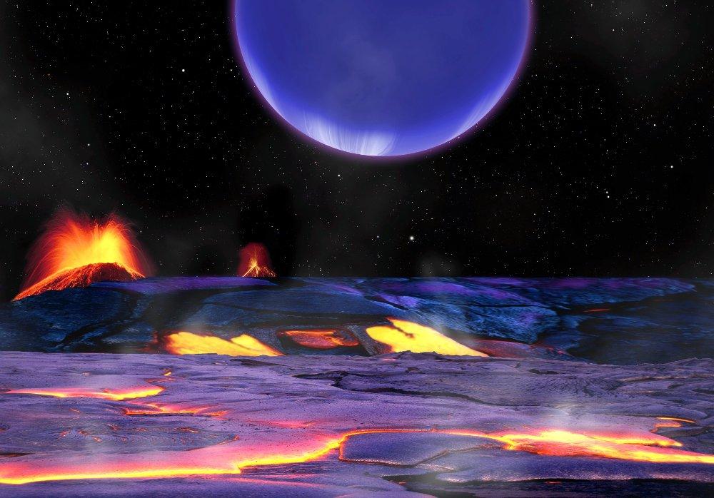 Hành tinh Kepler 36c nhìn từ bề mặt của Kepler 36b.