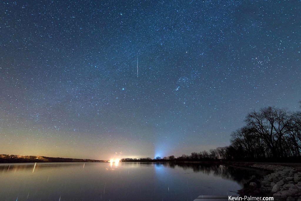 """Ngôi sao đến sớm của Kelvin Palmer. Anh chụp được nó vào ngày 10/12. Một số người """"may mắn"""" vẫn có thể quan sát được Geminid khi họ vô tình ngước lên trời trong những ngày này."""