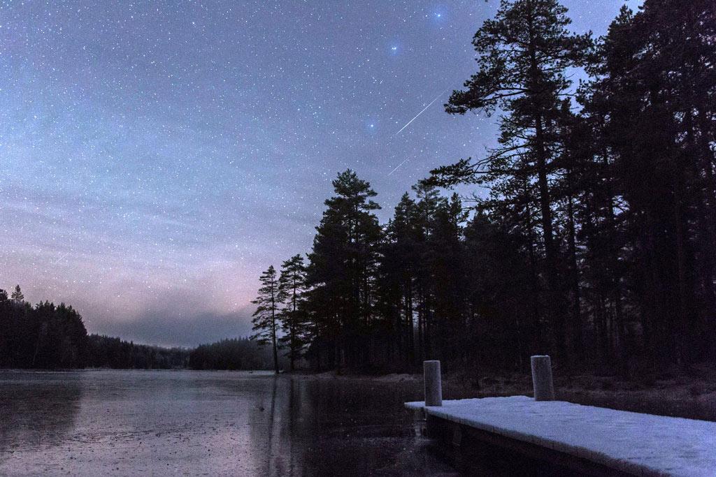 Rừng đêm Kongsvinger (Na Uy).