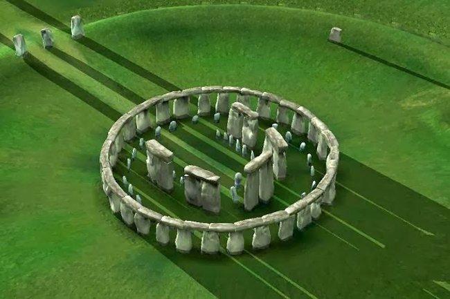 Hình phục dựng công trình tượng đài Stonehenge ở Salisbury, Anh.