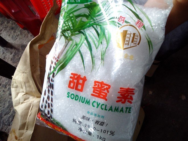 Đường cyclamate không có trong danh mục chất tạo ngọt được phép sử dụng tại Việt Nam.