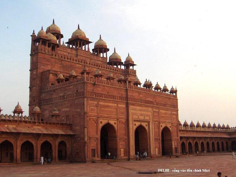 Thành cổ Fatehpur Sikri mang những nét đặc trưng của nền văn hóa Mughal, Ấn Độ vào khoảng thế kỷ thứ 16.