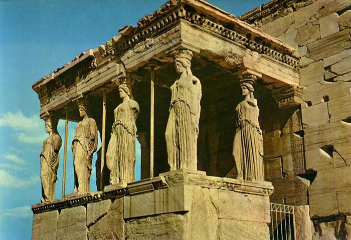 Đền Erechtheion là công trình mang đậm nét kiến trúc Hy Lạp.