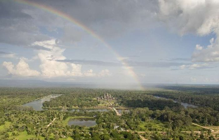 Quang cảnh nhìn từ trên không của Angkor Wat.