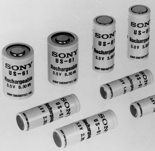 Pin Lithium - Ion do Sony giới thiệu từ năm 1991.
