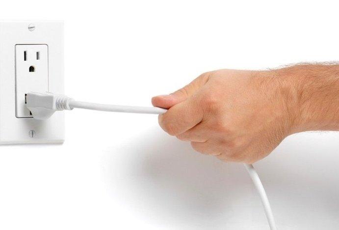 Ngắt điện khi đã đun nóng và trước khi sử dụng.