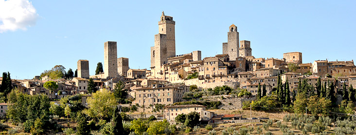 Thành phố San Gimignano của Ý có lịch sử từ thế kỷ thứ 10, thành phố được đặt theo tên của vị giám mục Saint Gimignano.