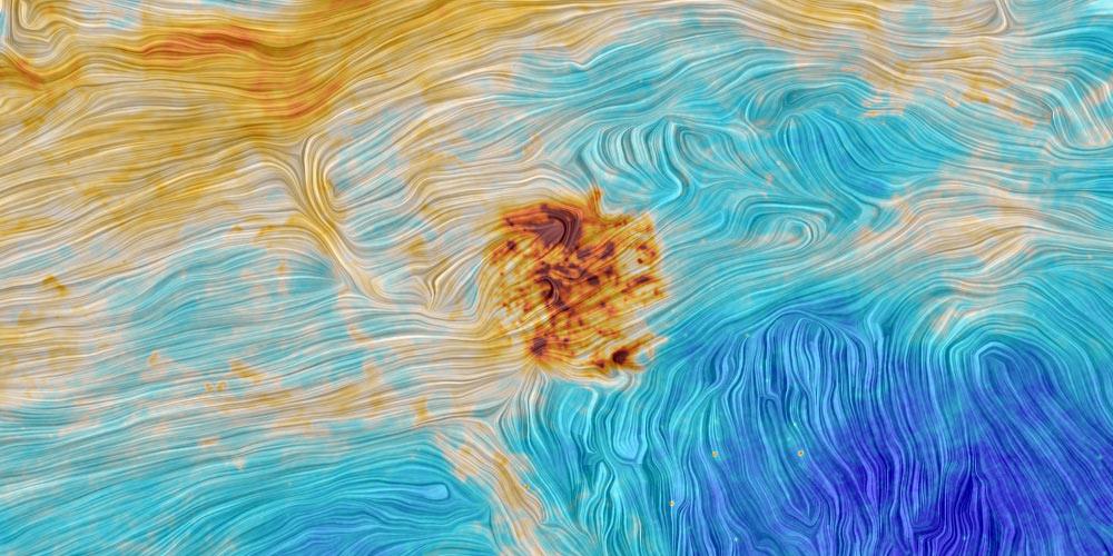 Vệ tinh Planck của Cơ quan Vũ trụ châu Âu (ESA) chụp được hình ảnh tuyệt đẹp về Large Magellanic Cloud (vùng đen, giữa) và Small Magellanic Cloud (dưới cùng bên trái) - hai thiên hà gần dải ngân hà của chúng ta.