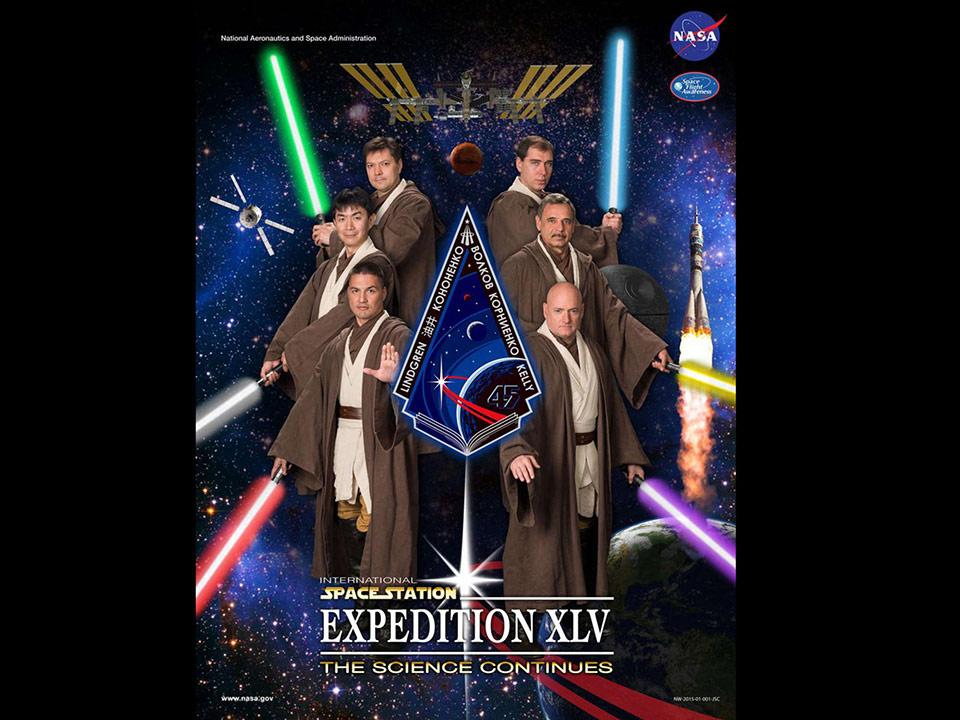 Đây là 6 phi hành gia thực hiện sứ mạng Expedition 45 kéo dài 1 năm trên trạm không gian quốc tế ISS