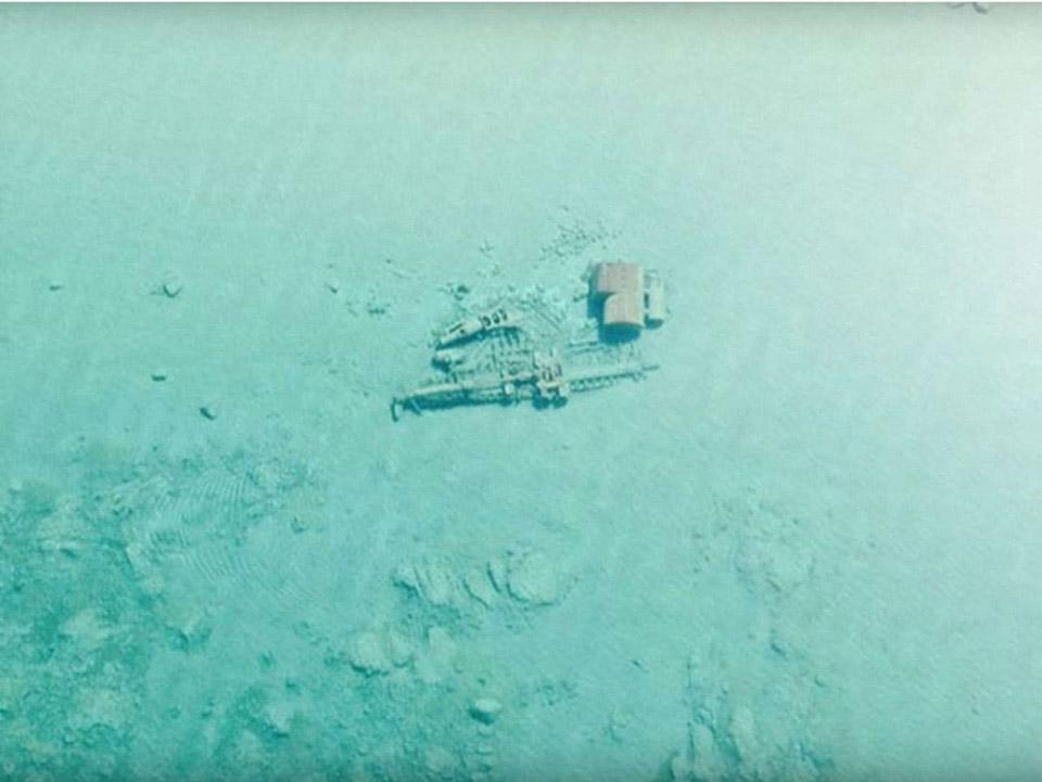 Đây là những mảnh vỡ còn sót lại của Rising Sun, một con tàu hơi nước bằng gỗ dài 40,5 mét di chuyển trong năm 1917.