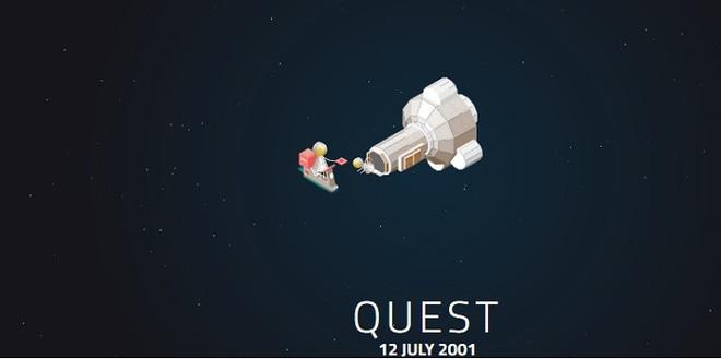 Bộ kết nối mới Quest được đưa vào sử dụng ngày 12/7/2001, dài 5,5 mét, đường kính 4 mét, nặng 9.923kg.