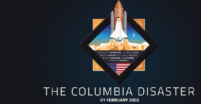 Tàu Columbia đã gặp sự cố khi một mảnh xốp cách nhiệt bị rơi ra và mắc vào cánh bên trái. Con tàu sau đó đã bị vỡ vụn khi bay vào khí quyển Trái Đất.