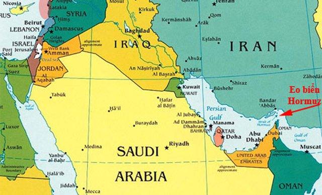 Vị trí địa lý của Ả rập Saudi.