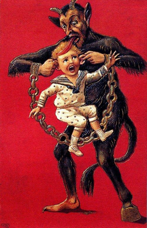 Hình tượng của loài ác quỷ này luôn có một vài nét đặc trưng: lông tối màu, cái lưỡi nhọn và dài...