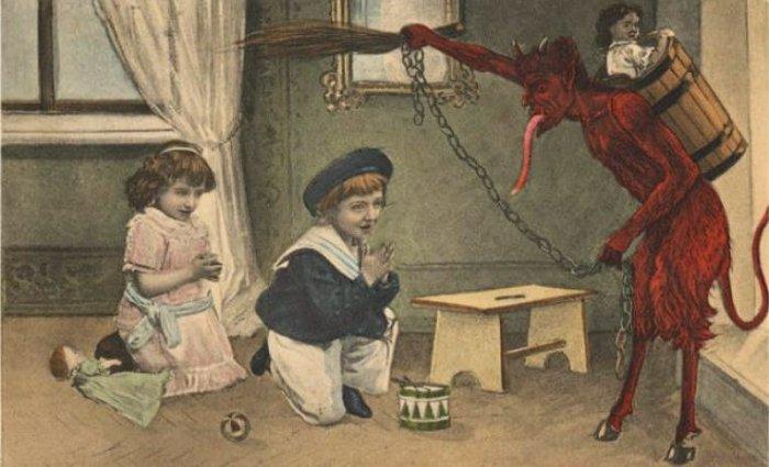 Theo truyền thuyết, vào đêm ngày 5/12 con quỷ này sẽ đến thăm từng nhà - y như ông già Noel.