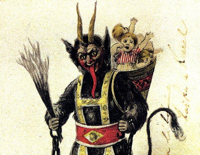 Một truyền thống ở Styria đó là, đó là người đóng giả Krampus sẽ đến từng nhà cùng với các cành bạch dương sơn vàng tặng cho trẻ con.