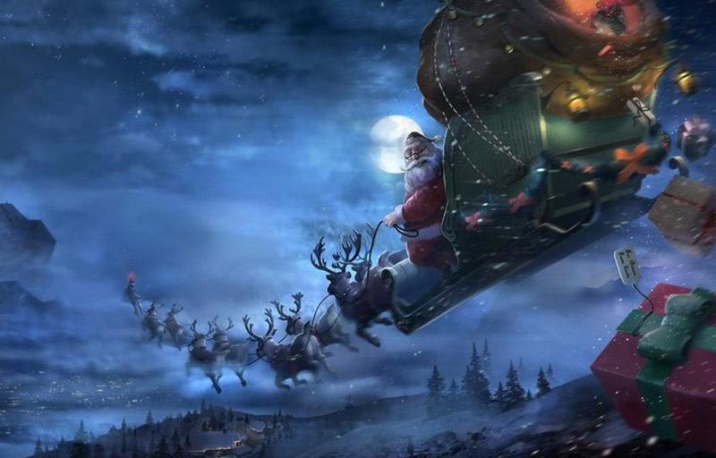 Ban đầu, cỗ xe bay của ông già Noel gồm có 8 chú tuần lộc, xếp thành 2 hàng: Dasher, Dancer, Prancer, Vixen, Comet, Cupid, Donder và Blitzen