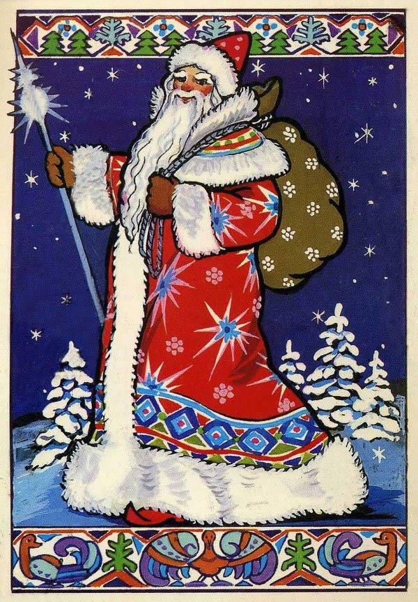"""Ded Moroz, hay còn được biết tới là """"ông Đông giá"""" chính là """"phiên bản Đông Âu"""" của ông già Noel."""