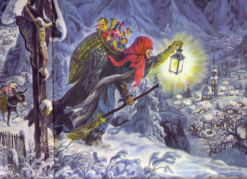 """Cũng là người luôn mang đến những món quà đặc biệt cho trẻ em giống Santa Claus, đó là """"bà già Noel"""" La Befana tại đất nước mang hình chiếc ủng Italy."""