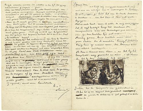 Bức thư của Van Gogh gửi cho em trai Theo Van Gogh, ngày 9/4/1885.