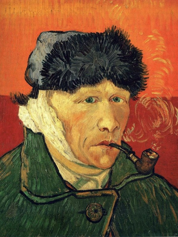 """Bức """"Tự họa"""" (năm 1889) của Van Gogh, với một bên tai được băng bó."""