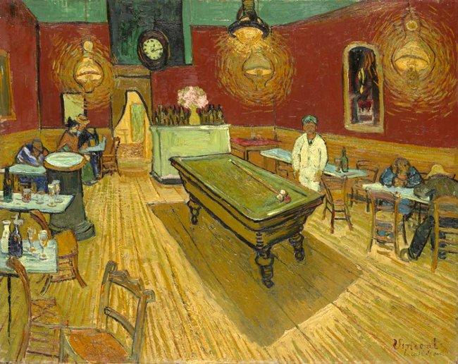 """Bức họa """"Café de Nuit"""" của Van Gogh, tháng 9/1888."""